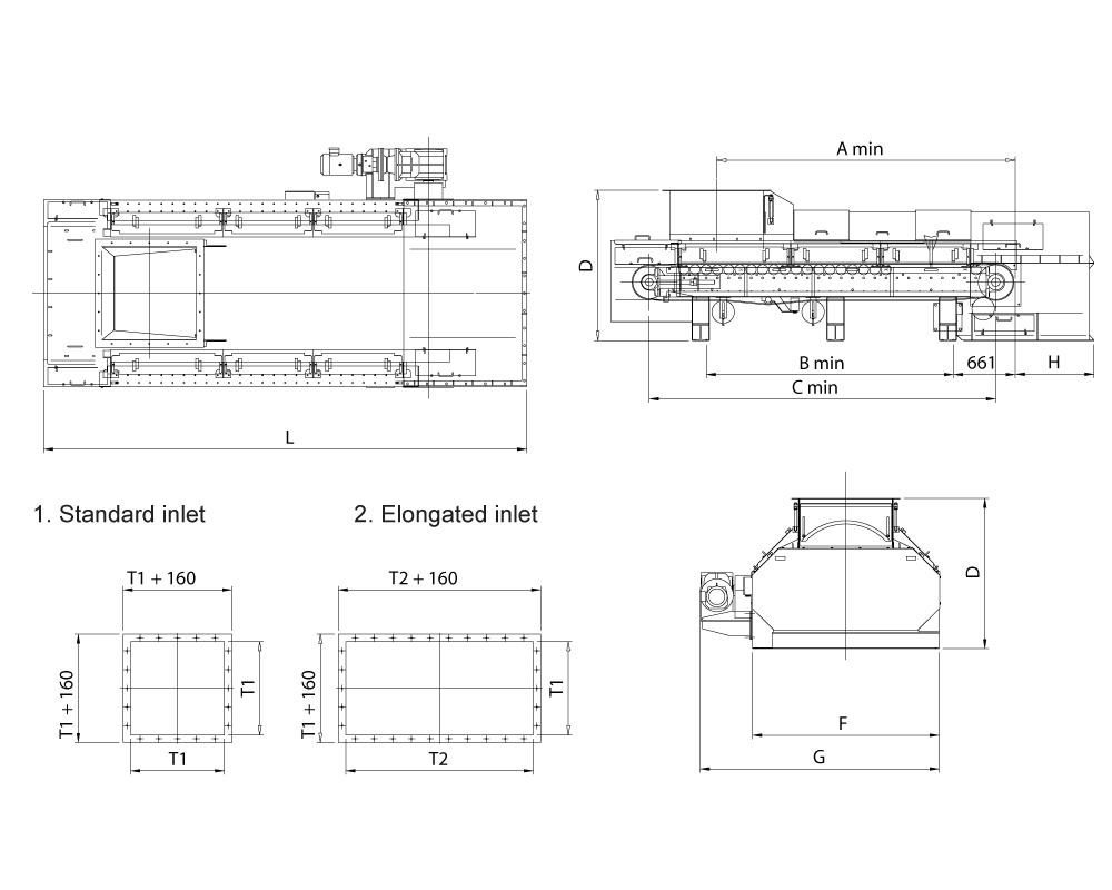 Weigh Belt feeder for granular materials
