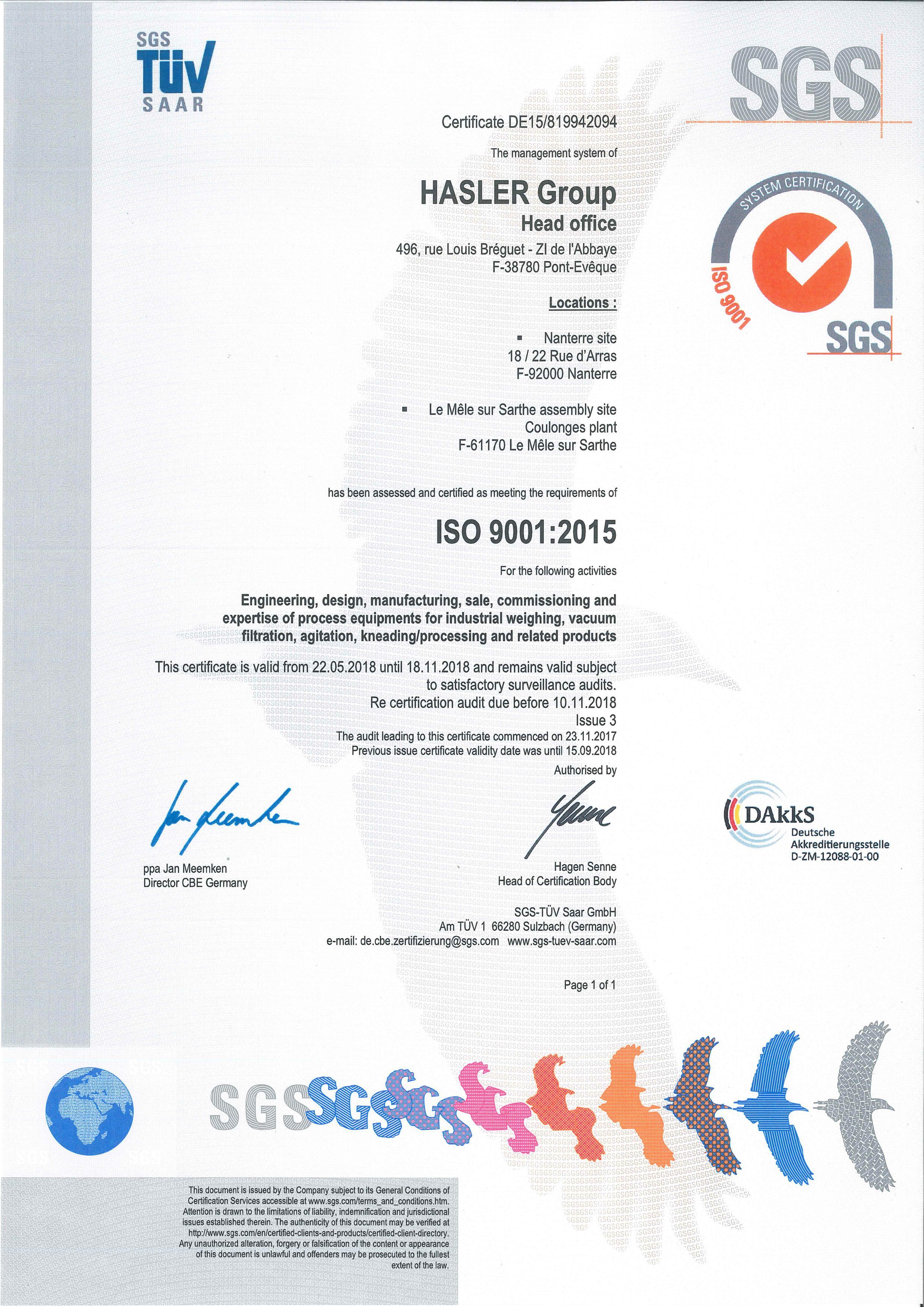 iso 9001 hydac certificate certification english 2008 certificates company certified hasler certificat 2023 technology pdf
