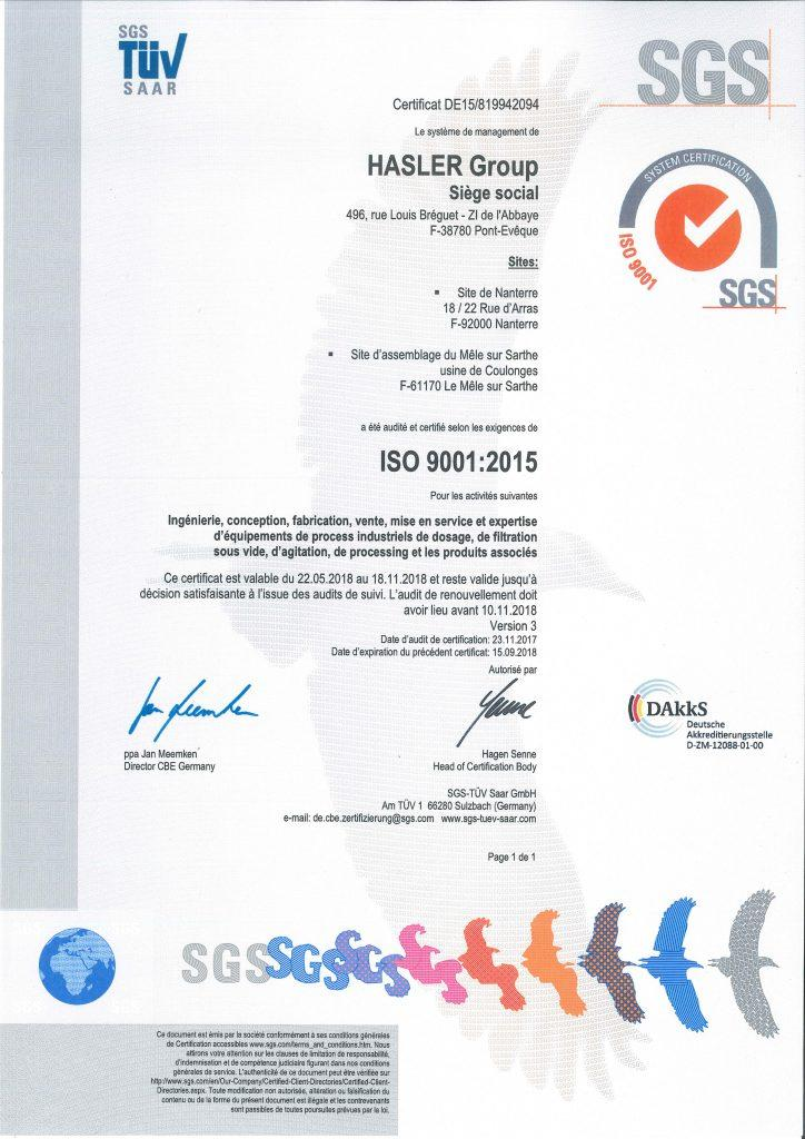 Certificat français