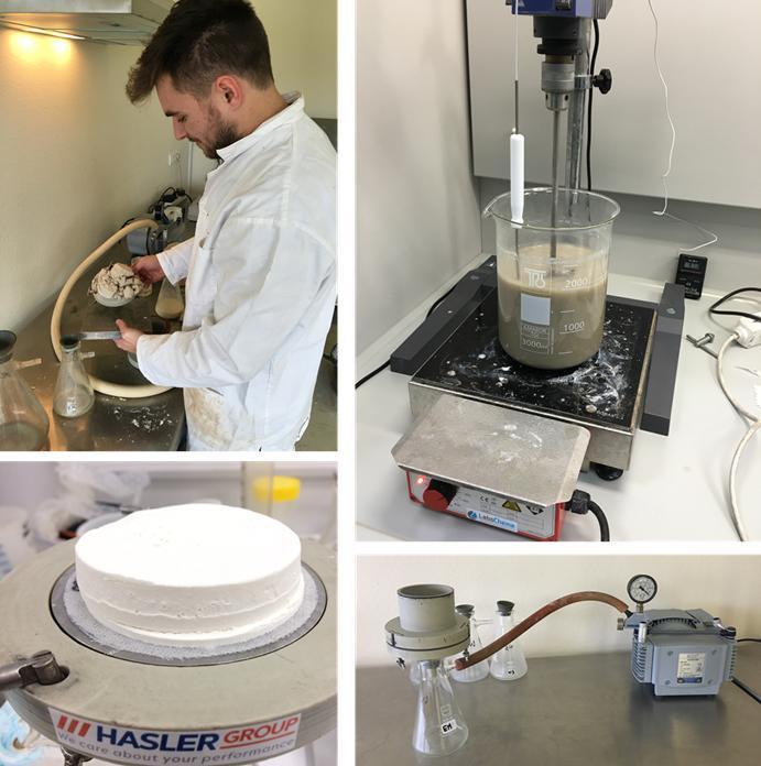 filtration test called buchner method