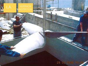 Agitator for deigester in waste water treatment process