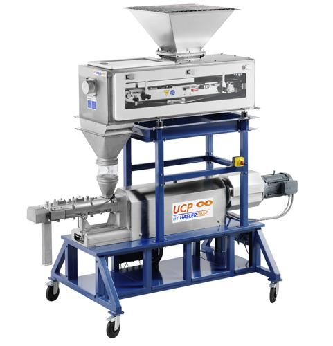 Double screw extruder kneader