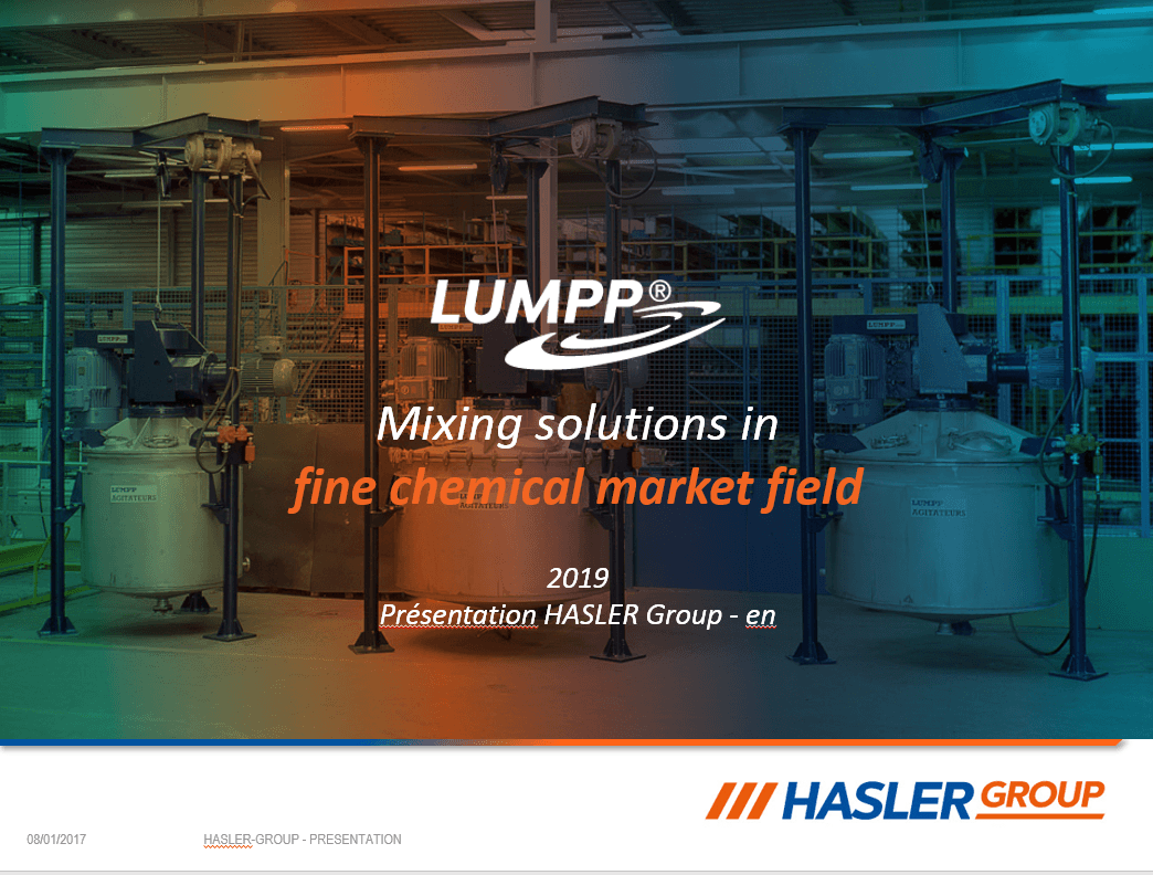 presentation of our mixing solution in chemical applications